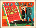 """Movie Posters:Drama, Man, Woman and Sin (MGM, 1927). Title Lobby Card (11"""" X 14"""").. ..."""