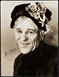 "Movie Posters:Horror, Lon Chaney in The Unholy Three (MGM, 1925). Autographed PortraitPhoto (9"" X 11.25"").. ..."