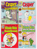 Bronze Age (1970-1979):Cartoon Character, Harvey Assorted Richie Rich and Casper Digests File Copies BoxLot(Harvey, 1970s-80s) Condition: Average NM-....