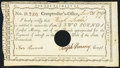 Colonial Notes:Connecticut, Connecticut Interest Certificate £2 January 31, 1791 Anderson CT-53Very Fine, COC.. ...