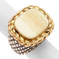 Estate Jewelry:Rings, Bone, Gold, Sterling Silver Ring, Dian Malouf. ...