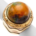 Estate Jewelry:Rings, Agate, Gold, Sterling Silver, Dian Malouf. ...