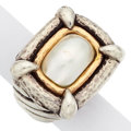 Estate Jewelry:Rings, Mabe Pearl, Gold, Silver Ring, Dian Malouf. ...