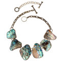 Estate Jewelry:Necklaces, Abalone Shell, Sterling Silver Necklace, Rebecca Collins. ...