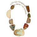 Estate Jewelry:Necklaces, Multi-Stone, Sterling Silver Necklace, Rebecca Collins. ...