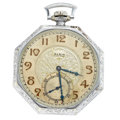 Timepieces:Pocket (post 1900), Elgin 15 Jewel Open Face Pocket Watch. ...