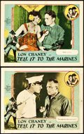 "Movie Posters:War, Tell it to the Marines (MGM, 1926). Lobby Cards (2) (11"" X 14"")..... (Total: 2 Items)"