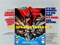 "The Spy Who Loved Me (United Artists, 1977). British Quad (30"" X 40"") Seiko Watch Style. James Bond"