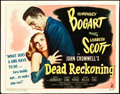 """Movie Posters:Film Noir, Dead Reckoning (Columbia, 1947). Title Lobby Card (11"""" X 14"""").. ..."""