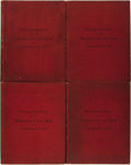 Books:Medicine, [Medicine]. George Henry Fox. Photographic Atlas of the Diseases of the Skin in Four Volumes. Philadelphia and L... (Total: 4 Items)