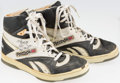Basketball Collectibles:Others, Mark Acres Game Worn, Signed Boston Celtics Shoes....