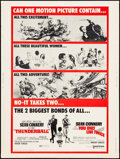 """Movie Posters:James Bond, Thunderball/You Only Live Twice Combo (United Artists, R-1970). Poster (30"""" X 40""""). James Bond.. ..."""