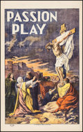 "Movie Posters:Drama, The Passion Play (N. Morgillo, early 1910s). One Sheet (27.5"" X 44""). Drama.. ..."