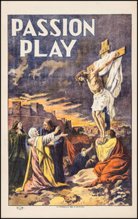 "The Passion Play (N. Morgillo, early 1910s). One Sheet (27.5"" X 44""). Drama"