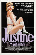 """Movie Posters:Adult, Justine: A Matter of Innocence (Sendy, 1980). One Sheet (27"""" X 41"""") & Uncut Pressbook (10"""" X 14""""). Adult.. ... (Total: 2 Items)"""