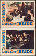 "Movie Posters:Mystery, The Case of the Curious Bride (Warner Brothers, 1935). Lobby Cards(2) (11"" X 14""). Mystery.. ... (Total: 2 Items)"