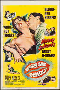 "Kiss Me Deadly (United Artists, 1955). One Sheet (27"" X 41""). Film Noir"