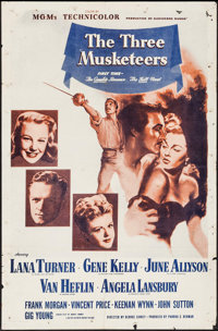 "The Three Musketeers (MGM, R-1950s). International One Sheet (27"" X 41""). Swashbuckler"
