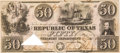 Miscellaneous, Republic of Texas $50 Dollar Red Back Note....