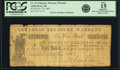 Obsoletes By State:Arkansas, Little Rock, AR - Arkansas Treasury Warrant $3 Nov. 29, 1861 Cr. 10, Rothert 379-3. PCGS Fine 15 Apparent.. ...