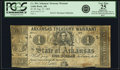 Obsoletes By State:Arkansas, Little Rock, AR - Arkansas Treasury Warrant $1 Aug. 21, 1863 Cr. 30A, Rothert 391-2. PCGS Very Fine 25 Apparent.. ...