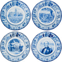 1936 Texas Centennial: Rare Set of Twelve Plates