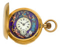 Timepieces:Pocket (post 1900), Schwob Freres & Co. Very Fine Gold Minute Repeater WithAutomaton, circa 1905. ...