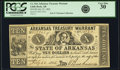 Obsoletes By State:Arkansas, Little Rock, AR - Arkansas Treasury Warrant $10 July 22, 1862 Cr. 54A, Rothert 393-2. PCGS Very Fine 30.. ...