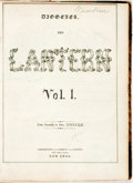 Books:Periodicals, [Bound Periodicals, Cartoons]. The Lantern, Vol. I, January- June, 1852. New York: Office of The Lantern, 1852....
