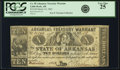 Obsoletes By State:Arkansas, Little Rock, AR - Arkansas Treasury Warrant $10 Mar. 14, 1862 Cr. 58, Rothert 393-1var. PCGS Very Fine 25.. ...
