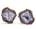 Lapidary Art:Boxes, Dugway Geode Pair. Utah. 2.63 x 1.33 x 1.10 inches (6.68 x 3.37 x 2.79 cm). ... (Total: 2 Items)