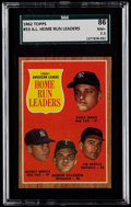 Baseball Cards:Singles (1960-1969), 1962 Topps Maris/Mantle AL Home Run Leaders #53 SGC 86 NM+ 7.5....