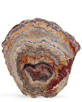 Lapidary Art:Carvings, Agate Slice. Mexico(?). 9.06 x 8.66 x 0.27 inches (23.00 x 22.00x 0.69 cm). ...