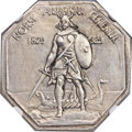 1925 Medal Norse Medal -- Die Trial on Thick Silver Oversized Medal -- Brushed -- NGC. Unc Details