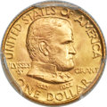 Commemorative Gold, 1922 G$1 Grant Gold Dollar, No Star, MS67+ PCGS. CAC....