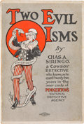 Books:Americana & American History, Charles A. Siringo. Two Evil Isms: Pinkertonism andAnarchism, by Chas. A. Siring, a Cowboy Detective WhoKn...