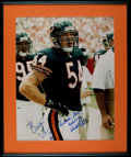 Football Collectibles:Photos, Brian Urlacher and Dick Butkus Multi Signed OversizedPhotograph....