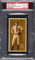 Baseball Cards:Singles (Pre-1930), 1911 Zeenut PCL Buck Weaver PSA NM-MT 8....