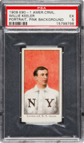Baseball Cards:Singles (Pre-1930), 1909-11 E90-1 American Caramel Willie Keeler (Pink Portrait) PSA EX5 - Pop One, One Higher....