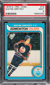 1979 O-Pee-Chee Wayne Gretzky #18 PSA Mint 9 - Only One Higher