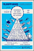 "Movie Posters:Documentary, The Devil's Triangle (UFO, 1974). Autographed One Sheet (28"" X 41""). Documentary.. ..."