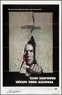 "Escape from Alcatraz (Paramount, 1979). Autographed One Sheet (27"" X 41""). Thriller"
