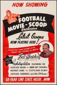 """Football Movie-Scoop (Early 1940s). Stock One Sheet (28.25"""" X 42""""). Sports"""
