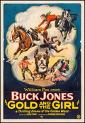 "Movie Posters:Western, Gold and the Girl (Fox, 1925). One Sheet (27"" X 41""). Western.. ..."