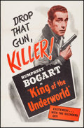 """Movie Posters:Crime, King of the Underworld (Warner Brothers, R-1956). One Sheet (27"""" X41""""). Crime.. ..."""