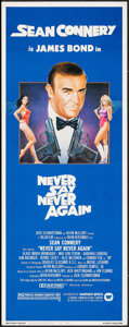 "Movie Posters:James Bond, Never Say Never Again (Warner Brothers, 1983). Insert (14"" X 36""). James Bond.. ..."