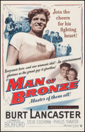 "Movie Posters:Sports, Jim Thorpe - All American (Warner Brothers, 1951). One Sheet (27"" X 41""). Sports. Alternate Title: Man of Bronze.. ..."