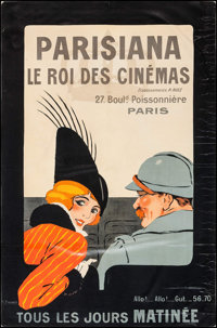 "Parisiana: The King of Cinemas (Parisiana, 1914). French Advertising Poster (30.5"" X 46""). Miscellaneous"