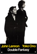 Music Memorabilia:Memorabilia, Beatles - John Lennon / Yoko Ono Double Fantasy Promotional Stand-Up with Photos (1980). ...