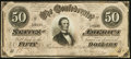 Confederate Notes:1864 Issues, T66 $50 1864 PF-5 Cr. 498. ...